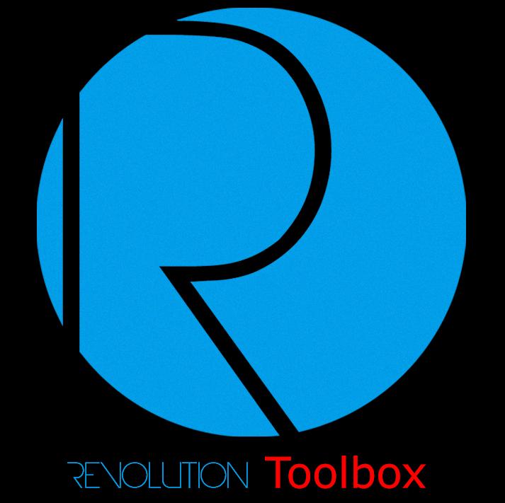 blue toolbox icon. revolution toolbox blue icon