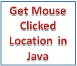 Get Mouse Clicked Location in Java frame applet