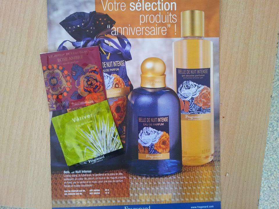 3 échantillons gratuits et du catalogue Fragonard Parfumeur et ça tous les 3 mois