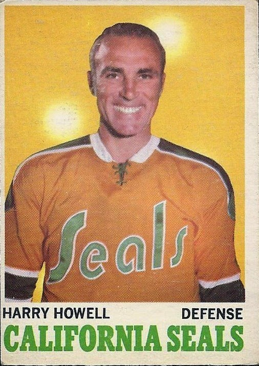 harry howell 1970-71 o-pee-chee hockey card