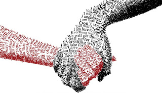 Hands from Words HD Love Wallpaper