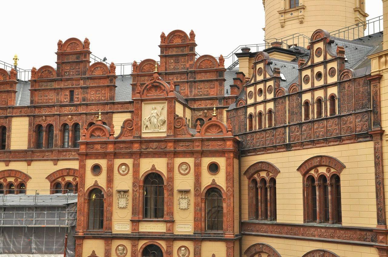 krużganki zamku książąt meklemburskich w Schwerin