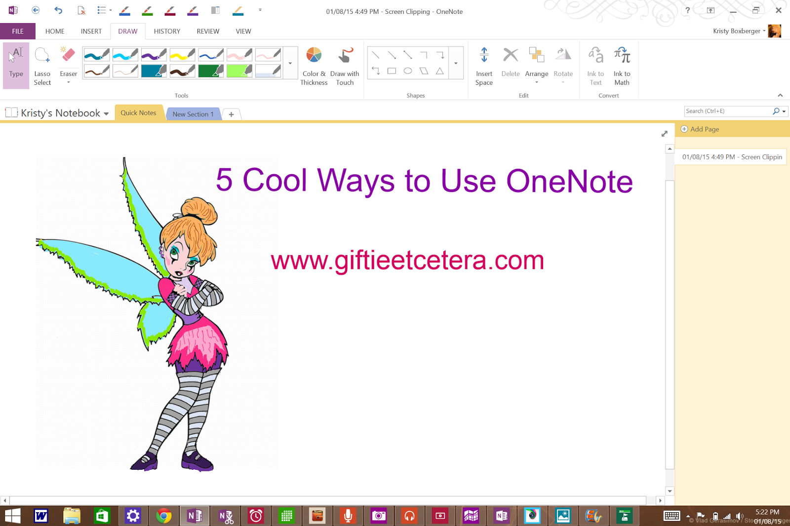 OneNote, Surface Pro 3, surface tricks and tips