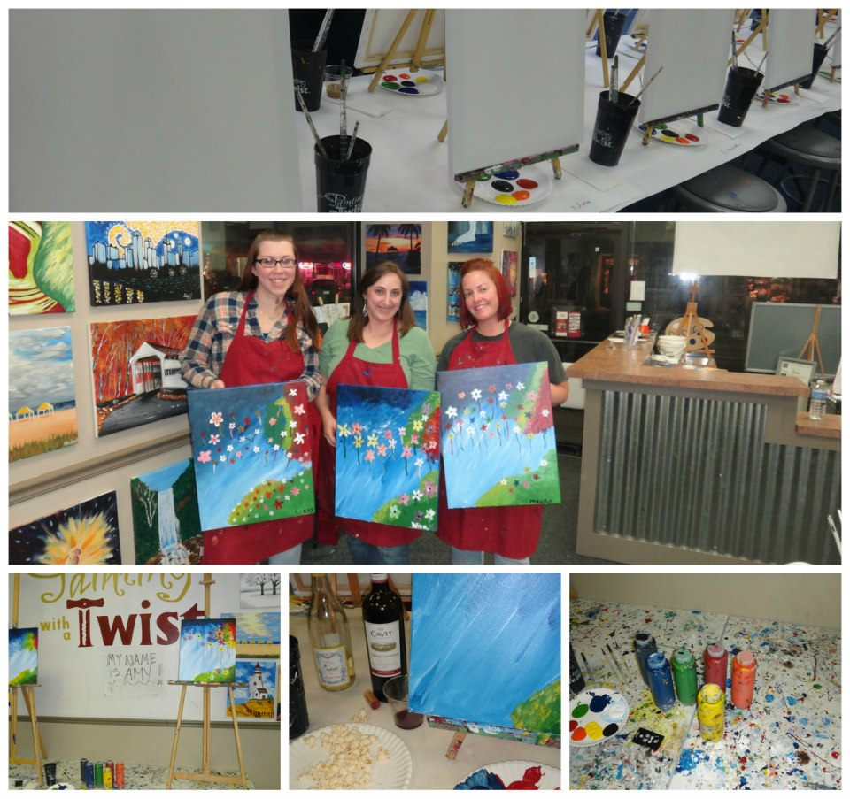 Always a brunette painting with a twist for Painting with a twist locations near me