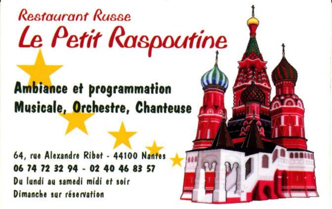 Le Petit Raspoutine A Nantes