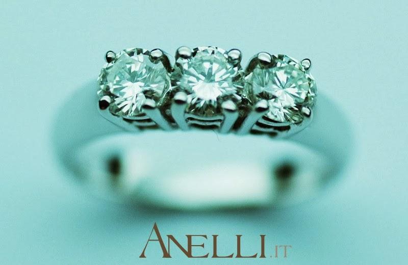 Anello trilogy 0,75 carati
