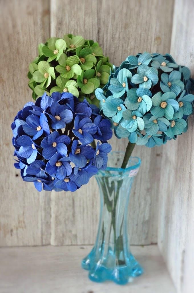 Diy how to make hydrangea or million flowers using dried corn husks dried corn husks mightylinksfo Gallery