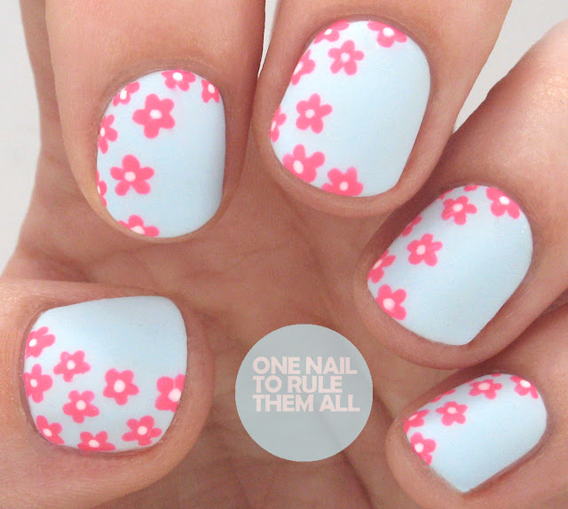 One Nail To Rule Them All Barry M Nail Art Pens Review: One Nail To Rule Them All: Matte Neon Flowers