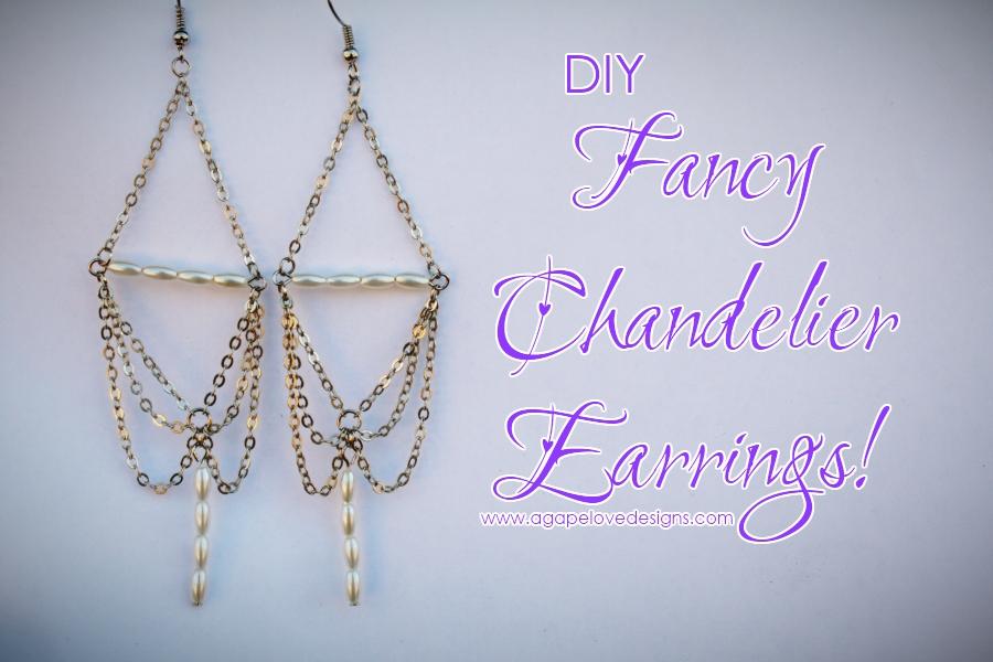 Agape love designs diy fancy chandelier earrings aloadofball Choice Image
