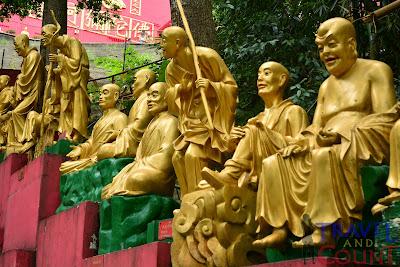 Golden Buddhas of Sha Tin Hong Kong