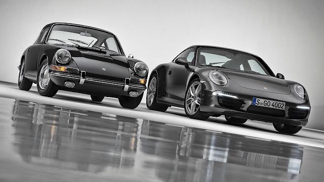 50 years anniversary of Porsche 911 front