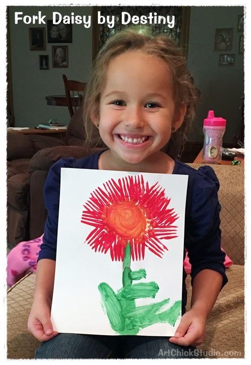 Fork Daisy Art for Kids