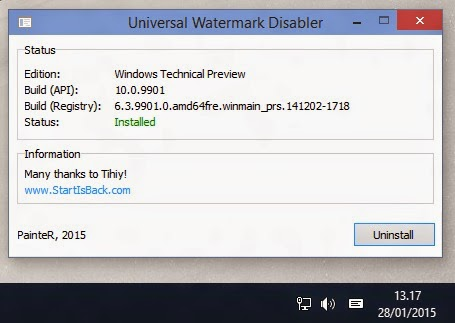 Universal Watermark Disabler Untuk Hilangkan Watermark Windows 10