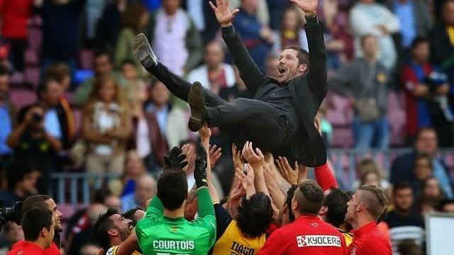 اتلتيكو مدريد يفوز بلقب الدوري الاسباني بتعادل مثير مع برشلونة