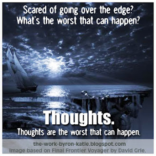Thoughts are the worst thing that can happen.