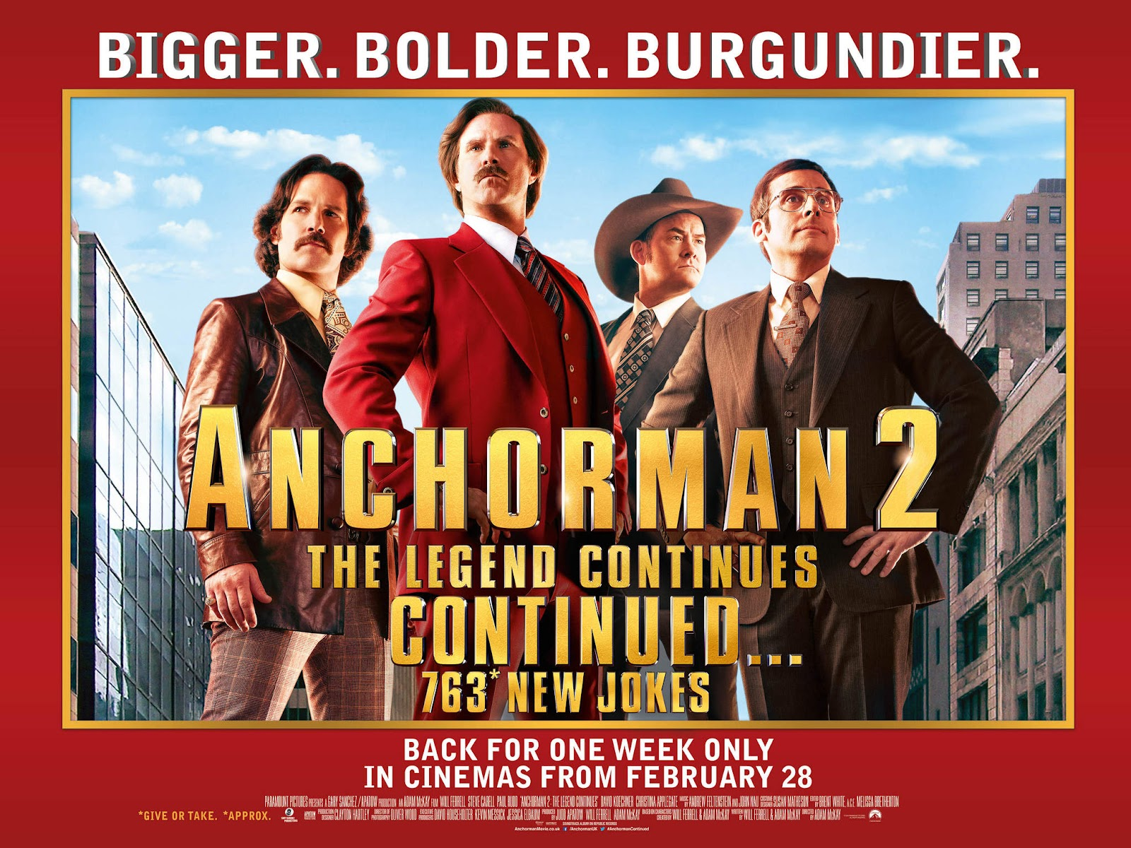 ANCHORMAN 2: THE LEGEND CONTINUES … CONTINUED POSTER