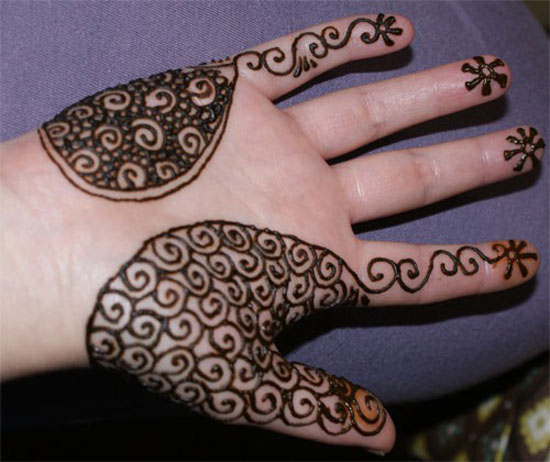 Awesome Two Sided Mehndi Design