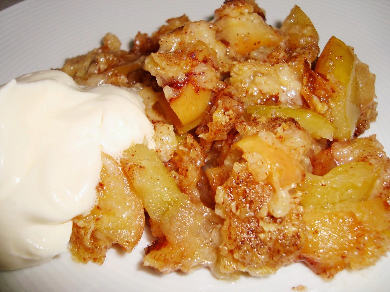 glutenfri äppelpaj med havregryn