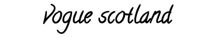 vogue scotland