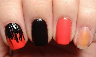 Black Stripe Nail