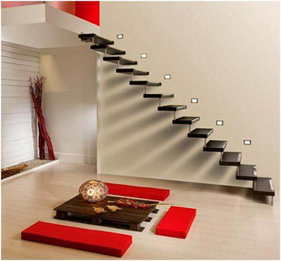 gambar desain tangga rumah minimalis modern