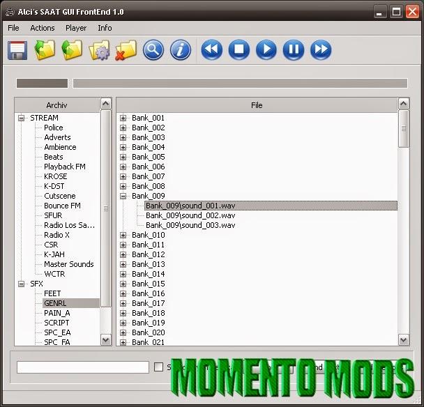 GTA SA - Alci's SAAT Gui FrontEnd 1.0
