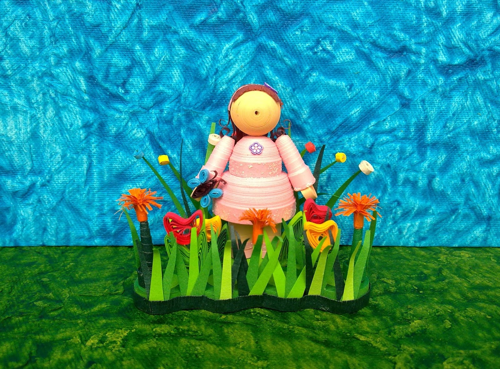 wondersofpaper quilled doll in the garden - The Doll In The Garden