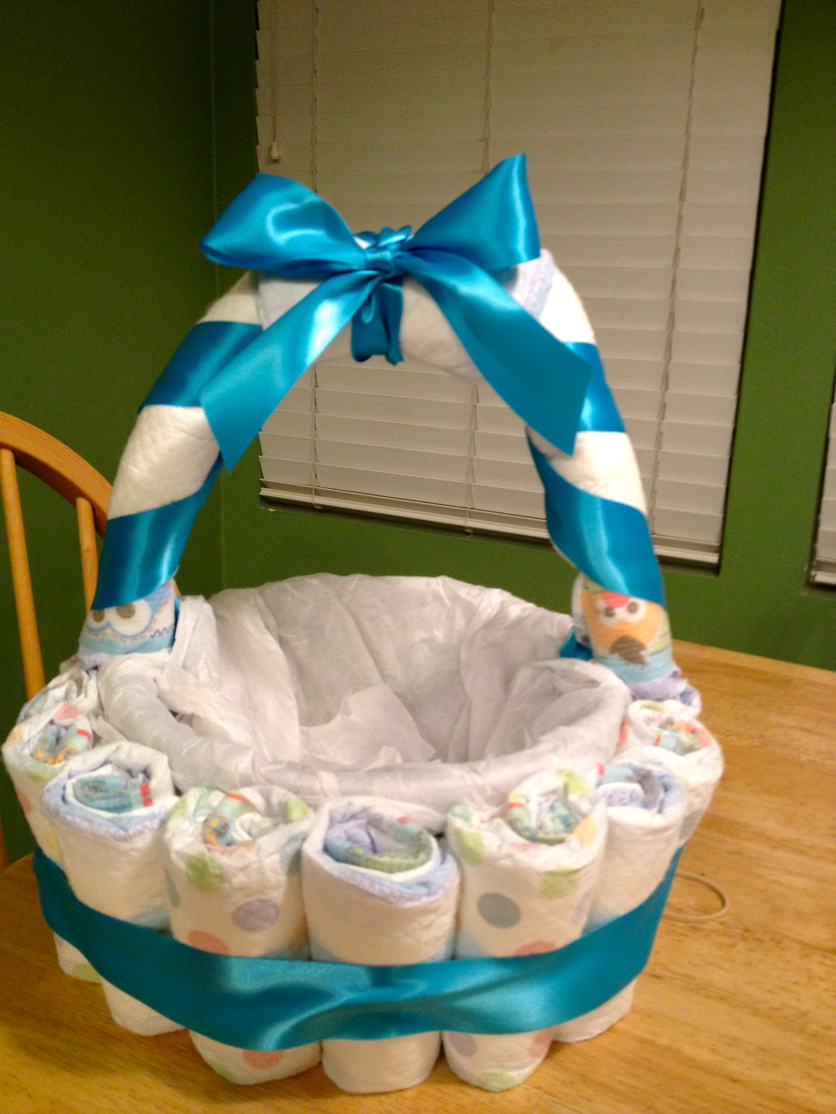 Baby Gift Basket Diapers : Someday baby diaper basket tutorial