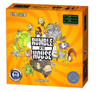 game box, rumble in the house art