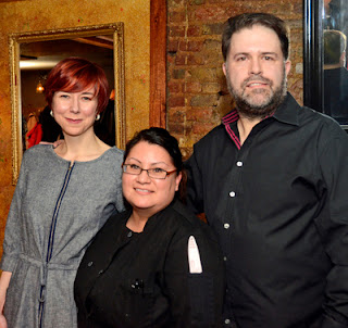 Jennifer McCoy, Chef Gina Rodriguez, Donal McCoy at Serrano Restaurant