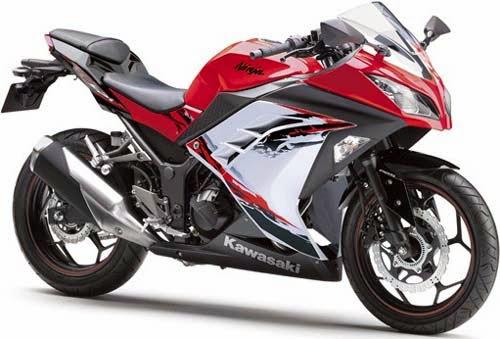 modifikasi motor ninja 250 warna merah 4 tahun ini