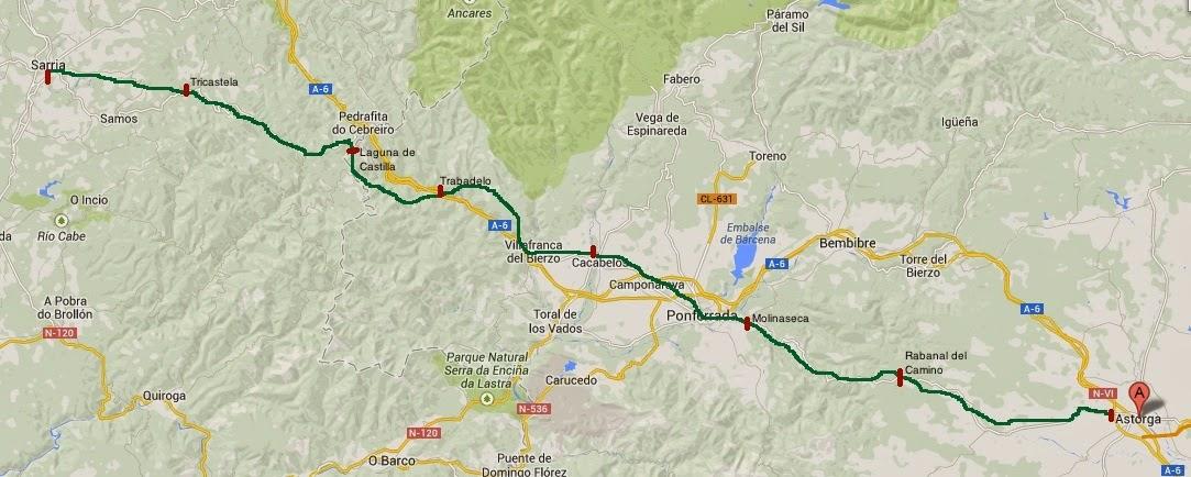 Camino franc s de astorga a sarria egeria siglo xxi for Ruta del mueble sarria