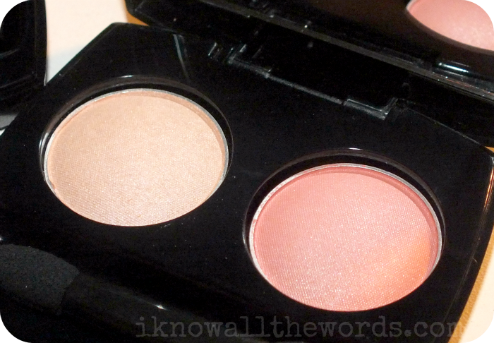 Avon Fiji Paradise True Colour Eyeshadow Duo 'Sunkissed' Shell and Refreshing Coral