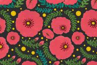 The Beautiful Pink Flowers Pattern by Haidi Shabrina