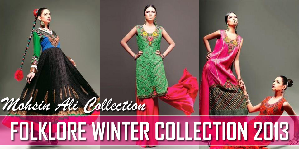 New Folklore Winter Collection 2013 By Mohsin Ali Formal Dresses