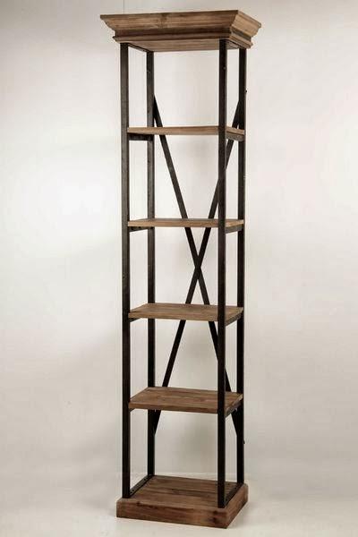 stunning estanteria estrecha forja y madera estantes with estanterias estrechas para libros - Estanterias Estrechas
