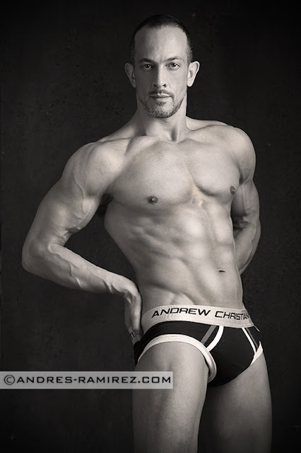 Jaime Abella by Andres Ramirez in Andrew Christian briefs
