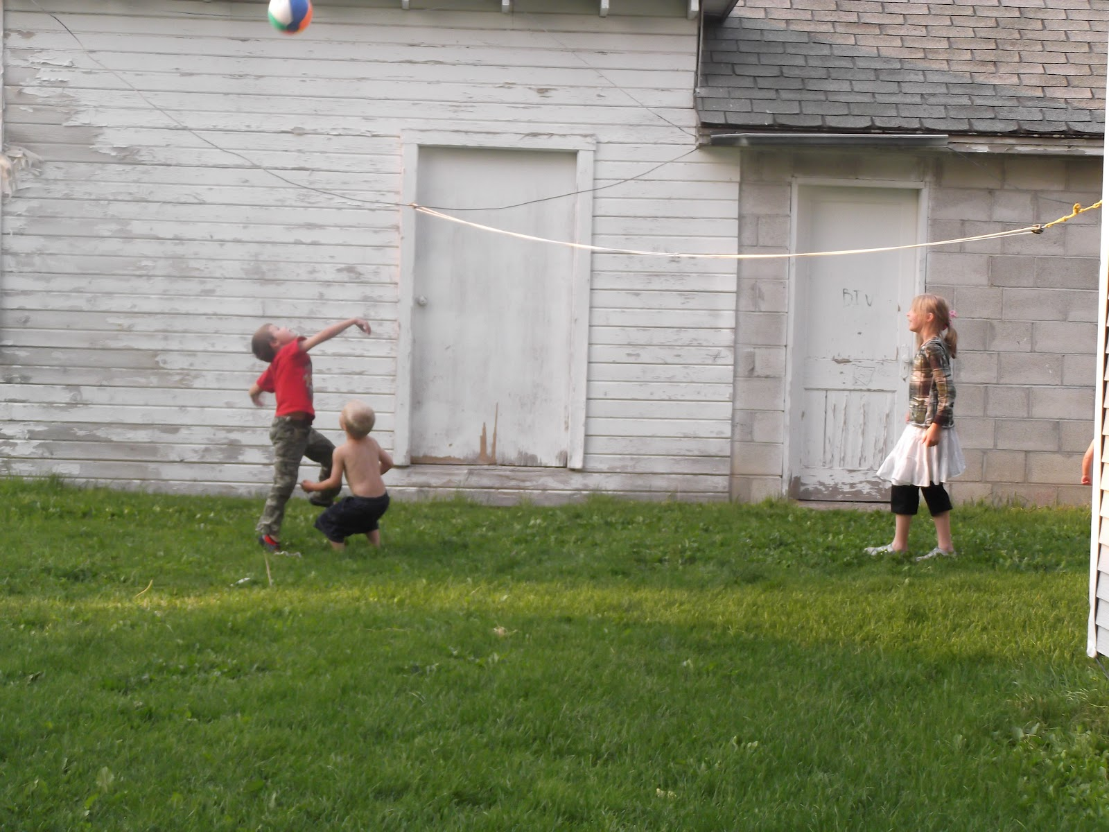 welcome to towerland backyard volleyball