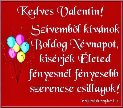 Február 14, Valentin névnap
