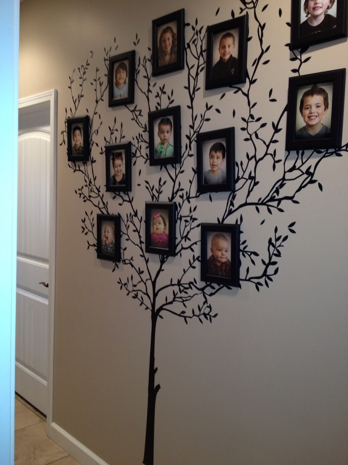 Visiting teaching tips handouts and ideas my family tree for Family tree picture wall ideas