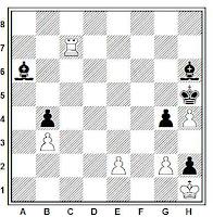 Estudio artistico de ajedrez de Prokes, 1952