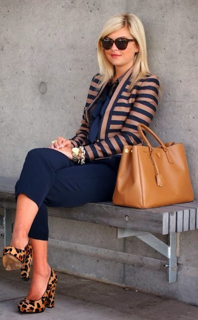 navy stripes leopard.