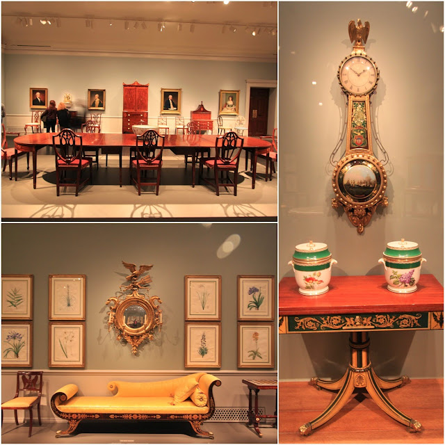 More antique American furniture at National Gallery of Art in Washington DC, USA