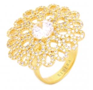 anel dourado para festa