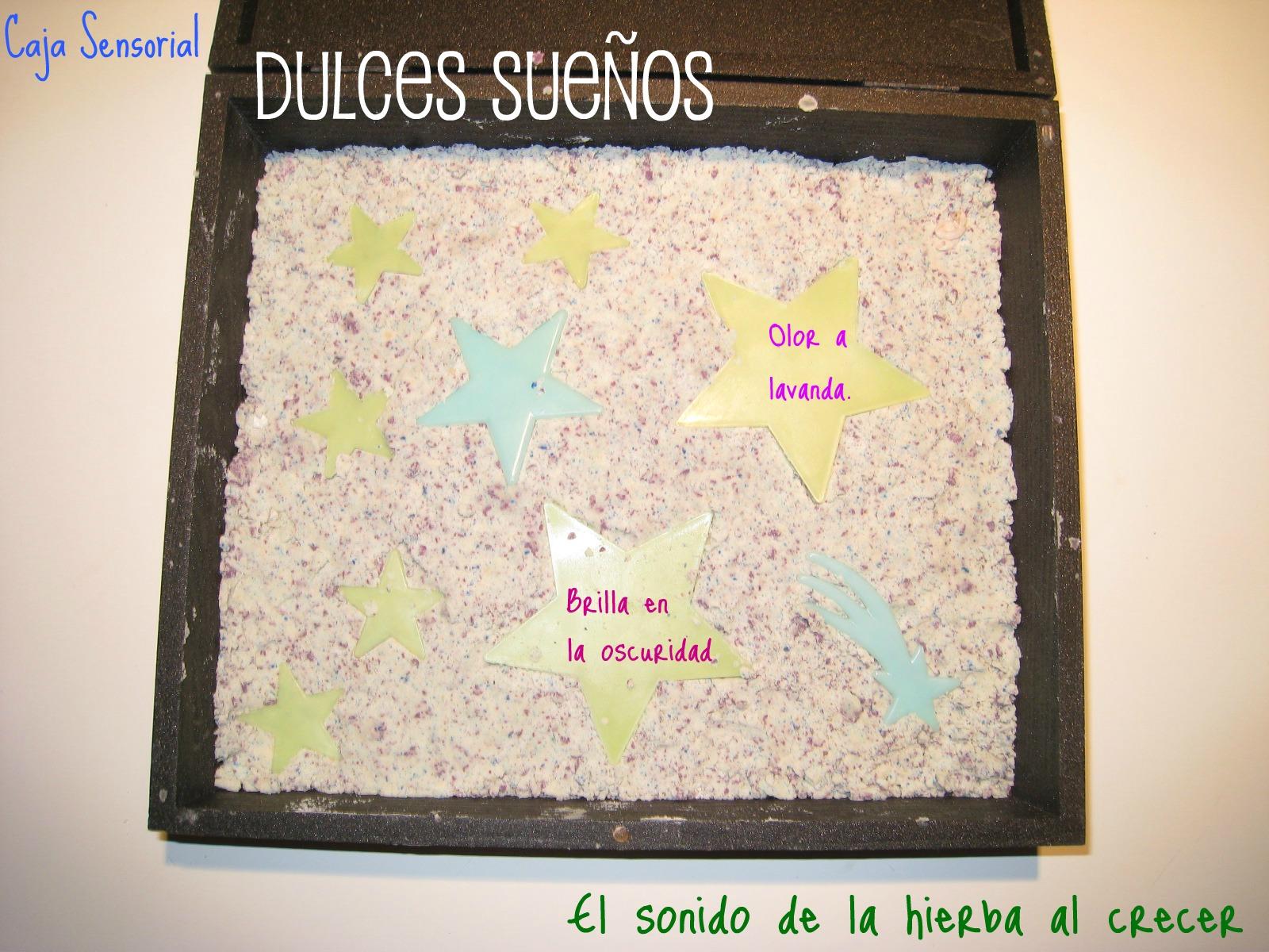 Caja sensorial Dulces Sueños :El sonido de la hierba al crecer