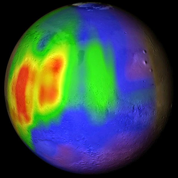 Methane in Mars' atmosphere