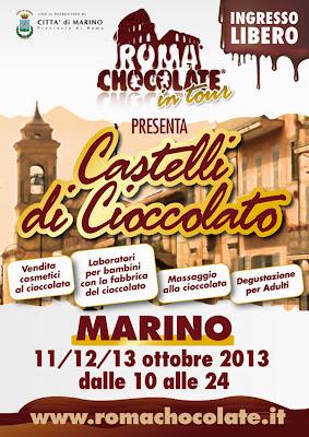 roma chocolate in tour , marino dal 11 al 13 ottobre!