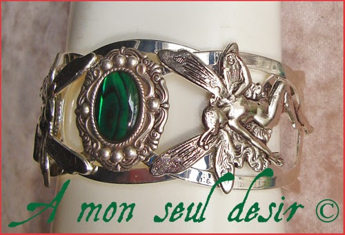 Bracelet fée féerique elfique elfe lutin magie blanche abalone ormeau haliotis fairy jewel elven
