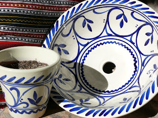 blue and white spanish ceramics
