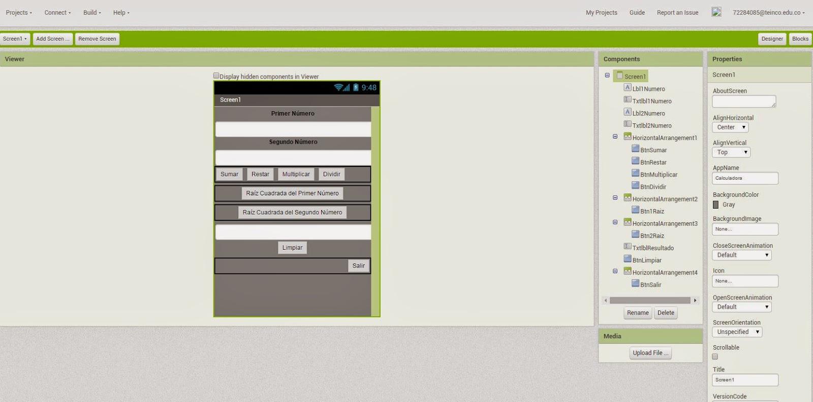 Calculadora Básica en App Inventor 2